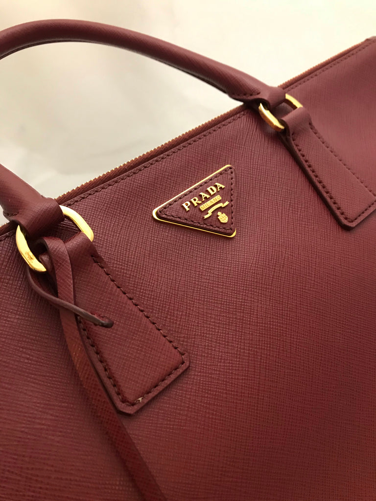 Double Zip Galleria Tote by Prada