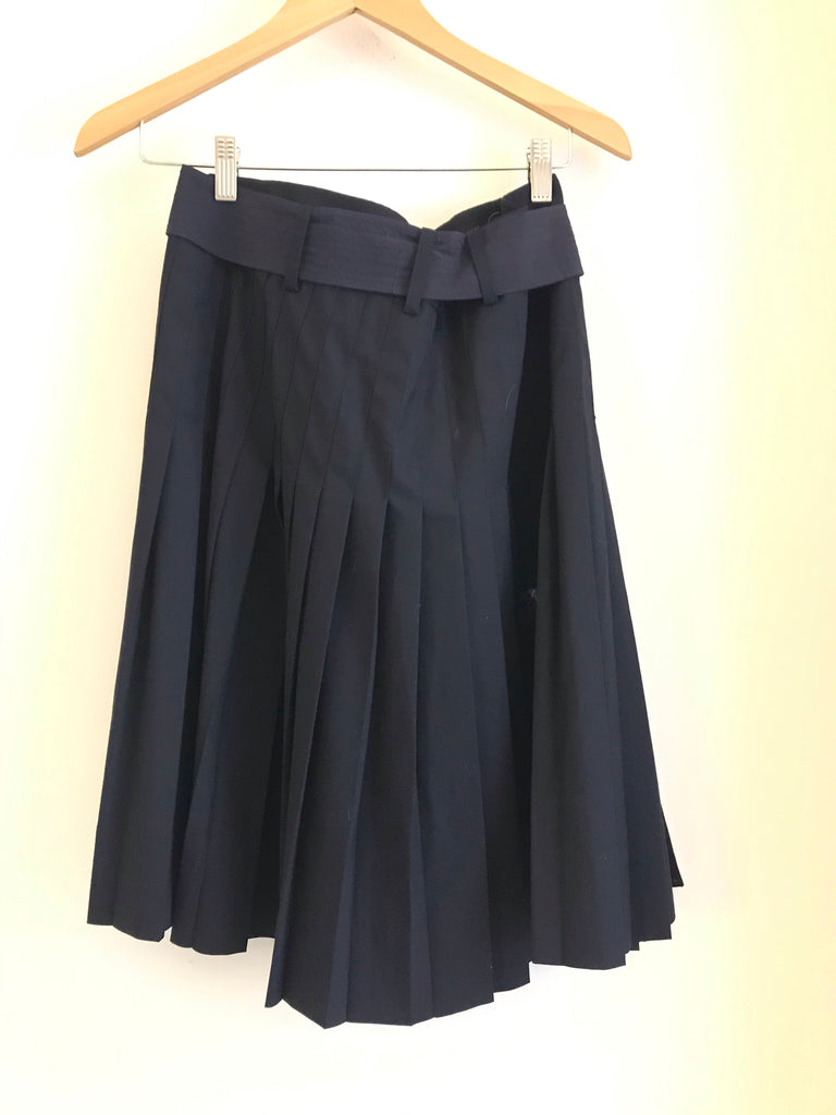 Pleated Wool Skirt by Tory Burch
