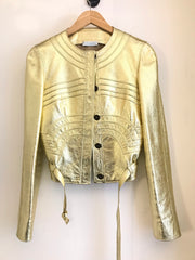 Gold Leather Jacket by Emilio Pucci at Isabella's Wardrobe