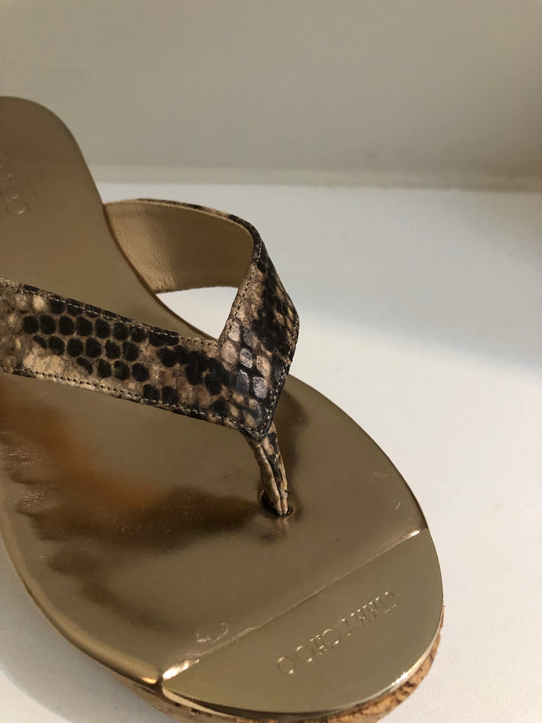 Pathos Wedge Sandals by Jimmy Choo