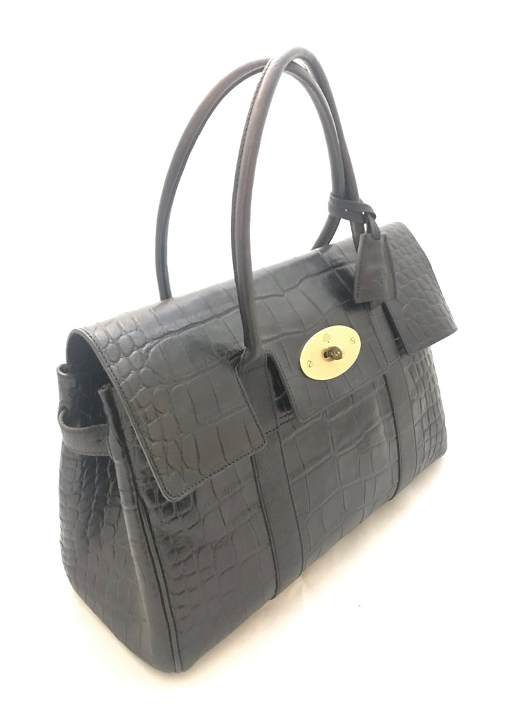 Vintage Crocodile Bayswater by Mulberry
