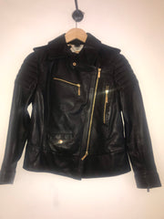 Leather Biker Jacket by Just Cavalli at Isabella's Wardrobe