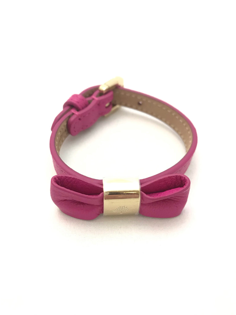 Fuchsia Leather Bracelet by Mulberry
