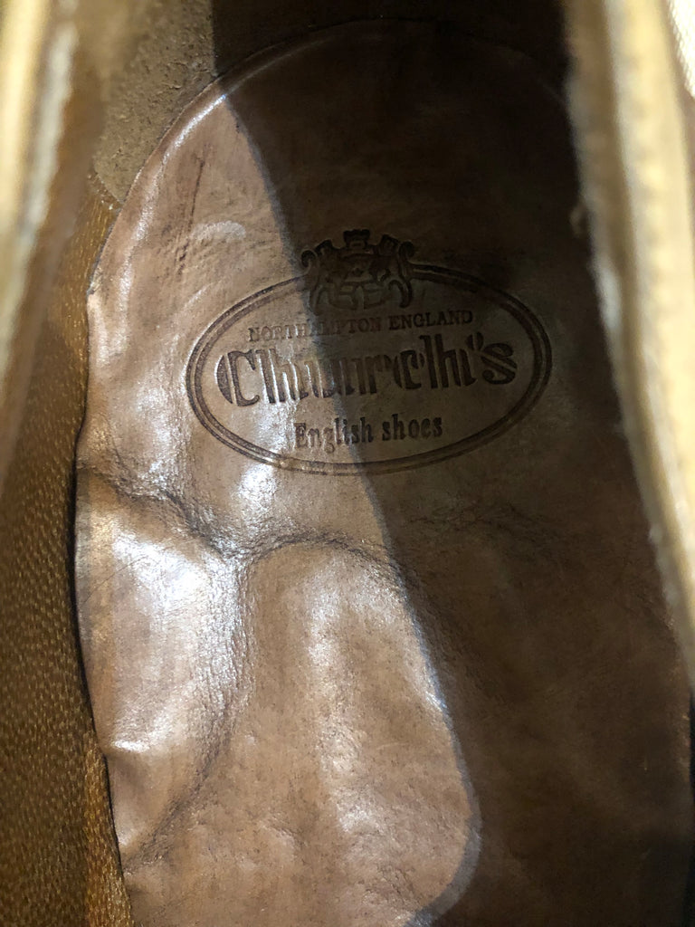 Shanghai Walnut Sand Leather Brogues by Church's