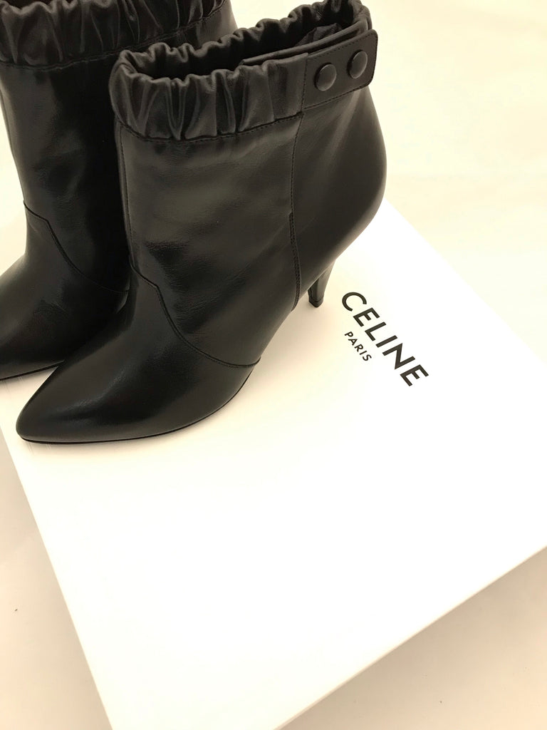 Leather Bootie by Celine