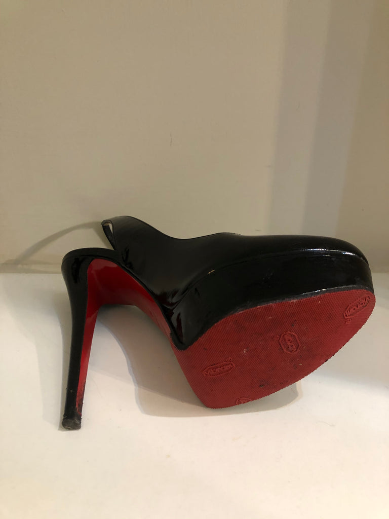 Bianca Sling 140 Patent Heels by Christian Louboutin