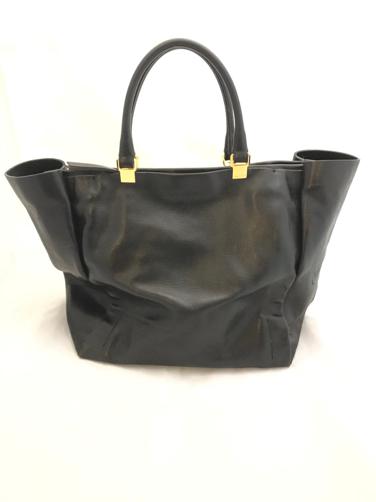 Leather Shopping Tote by Lanvin