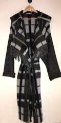 Fringed Checked Wool-Blend Coat by Stella McCartney at Isabella's Wardrobe