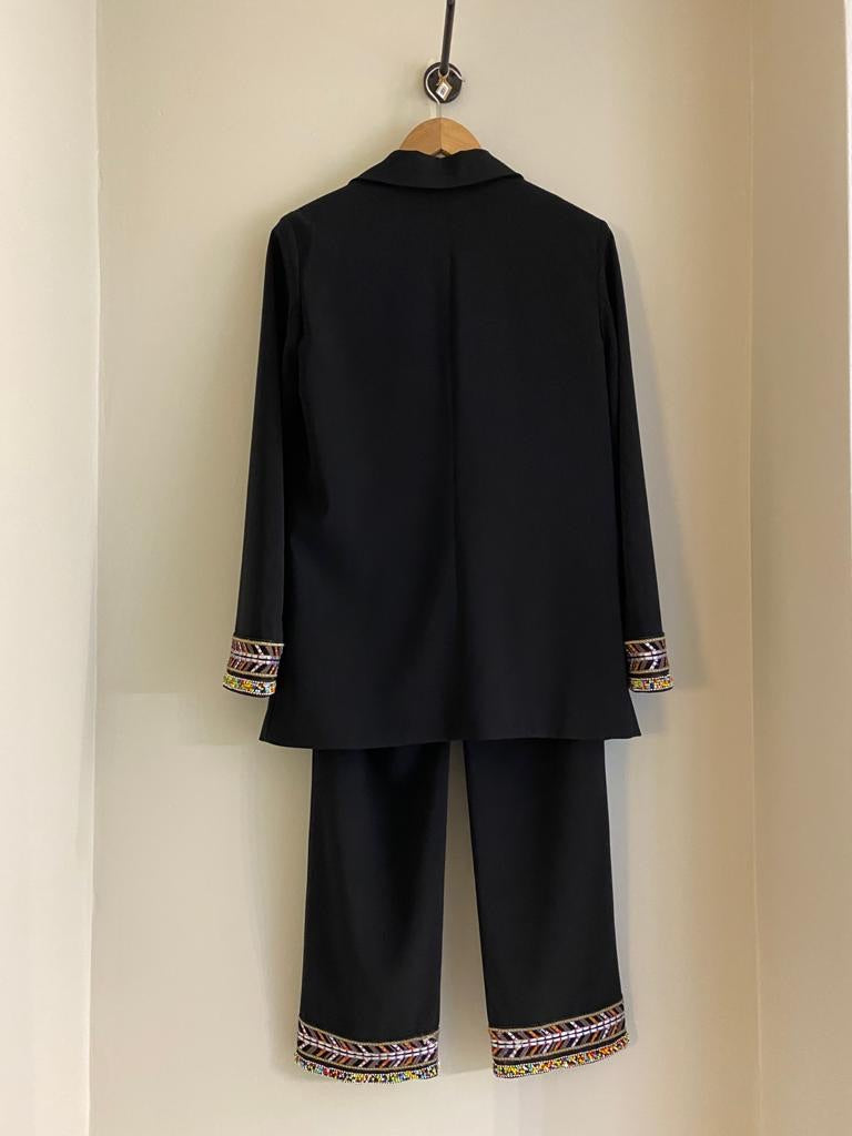 Beaded Trouser Suit by Emporio Armani