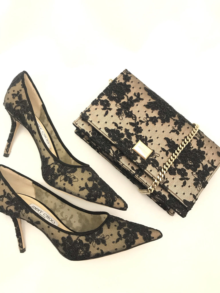 Love 85 Lace Heels by Jimmy Choo