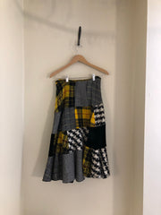 Tartan Patchwork Skirt by Comme des Garcons at Isabella's Wardrobe