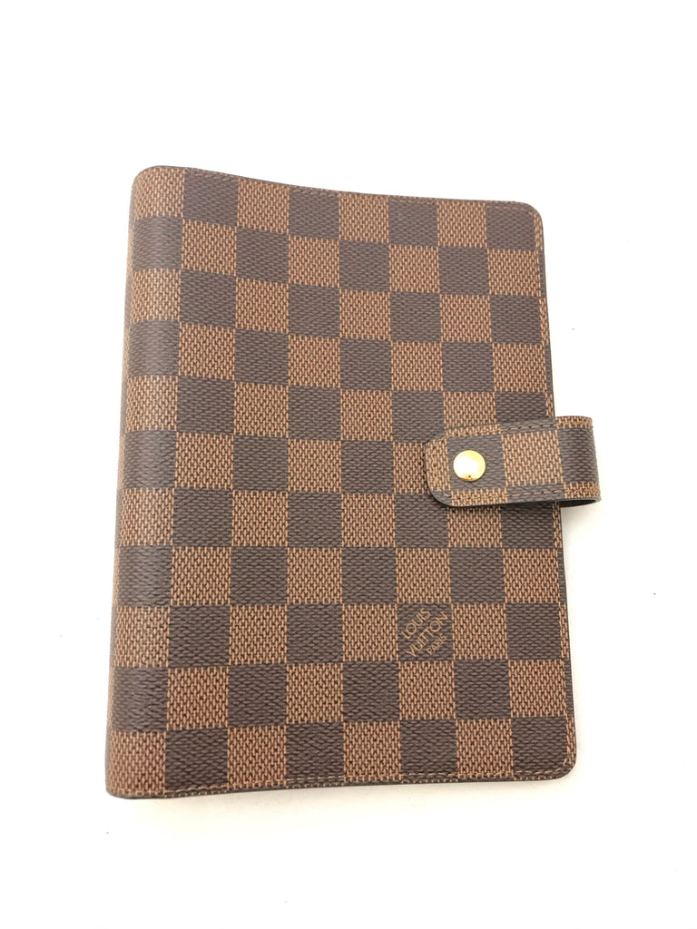 Damier Medium Ring Agenda Cover by Louis Vuitton