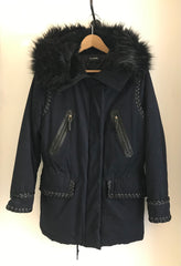 Faux Fur Trimmed Hooded Parka by The Kooples at Isabella's Wardrobe