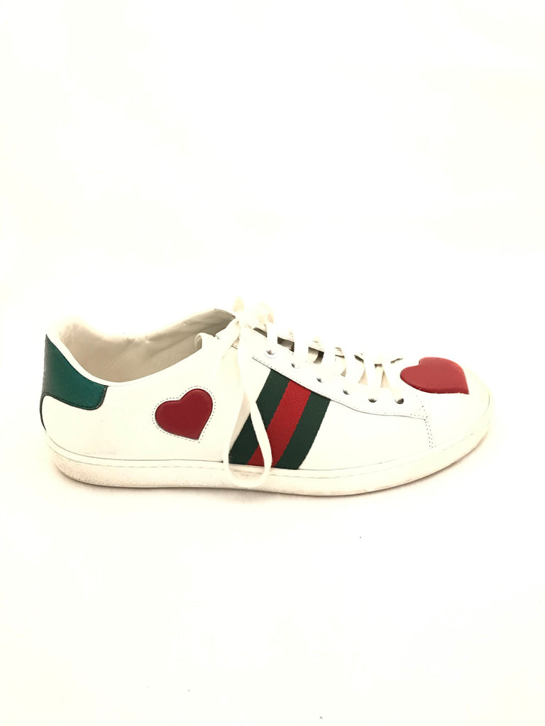 Ace Heart Sneakers by Gucci