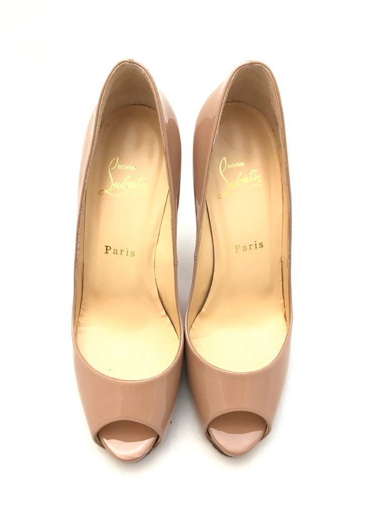 Very Prive Nude Patent Heels by Christian Louboutin