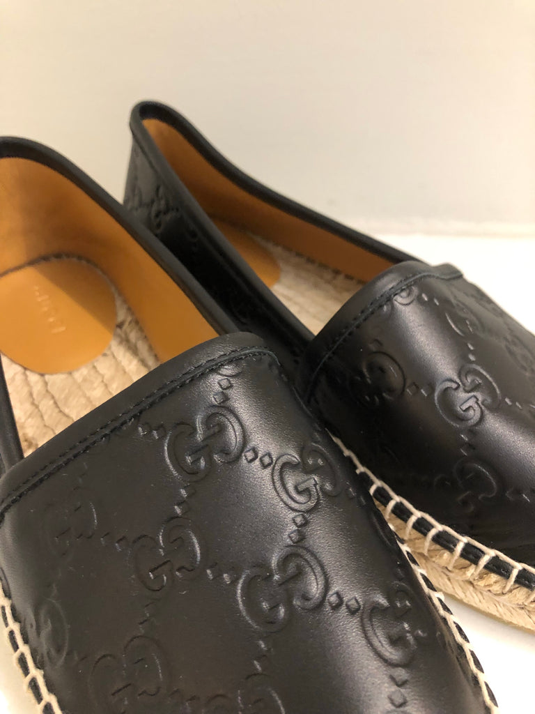Microguccissima Leather Espadrilles by Gucci