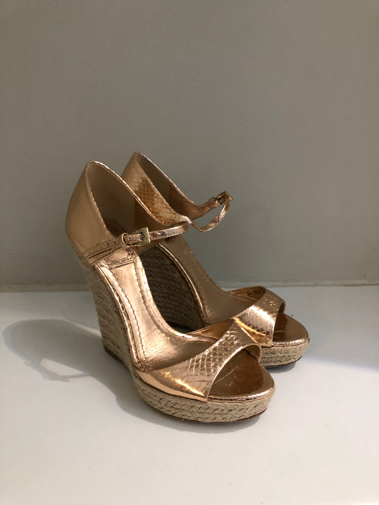 Metallic Rope Wedges by Christian Dior