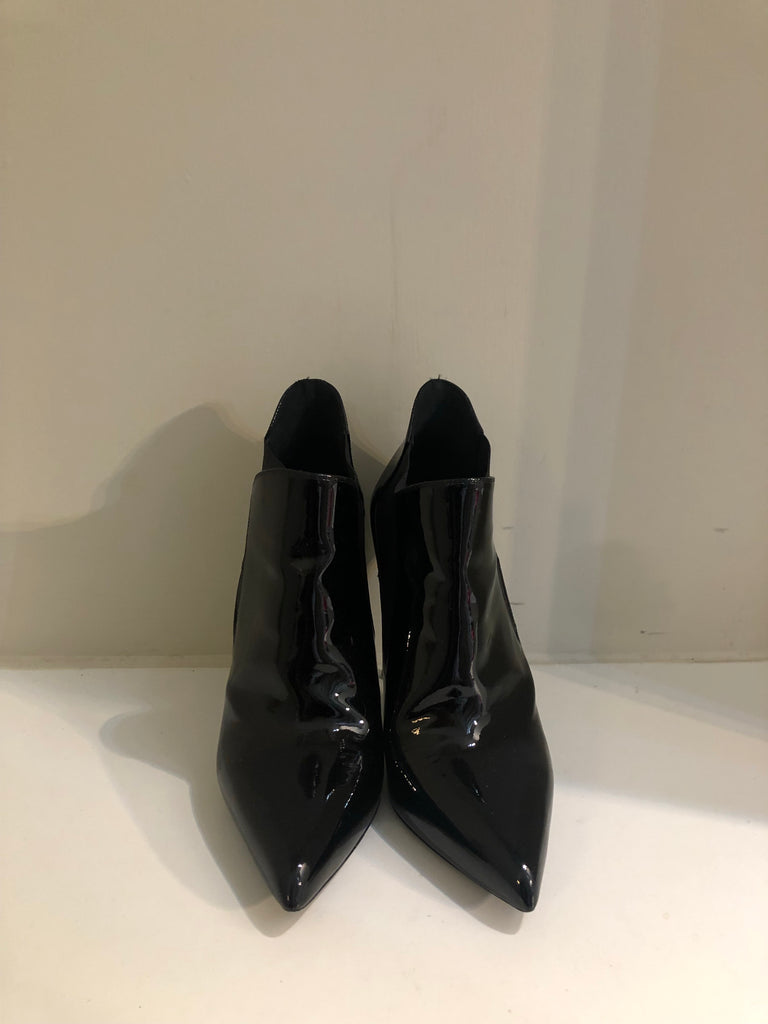 Patent Shoe Boots by Saint Laurent