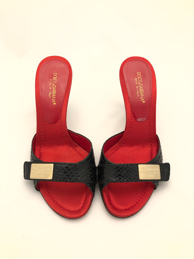 Grace Snake Slides by Dolce & Gabbana