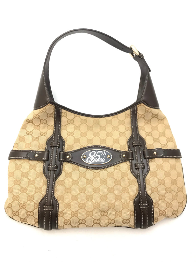 85th Anniversary GG Canvas Hobo Bag by Gucci
