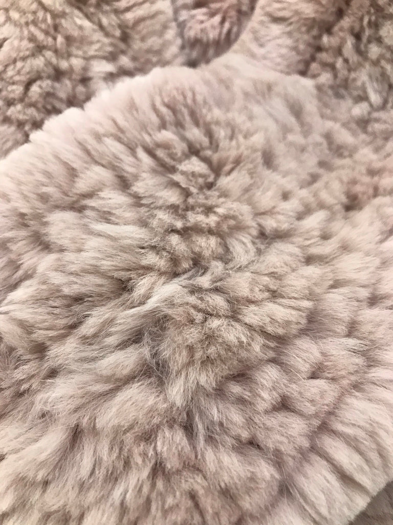 Rabbit Fur Scarf by Little Red