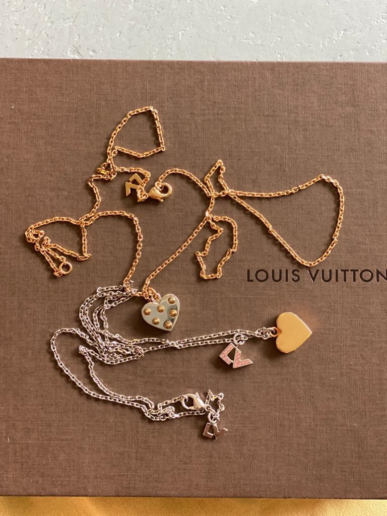 LV Spiky Valentine Pink Set Necklace by Louis Vuitton