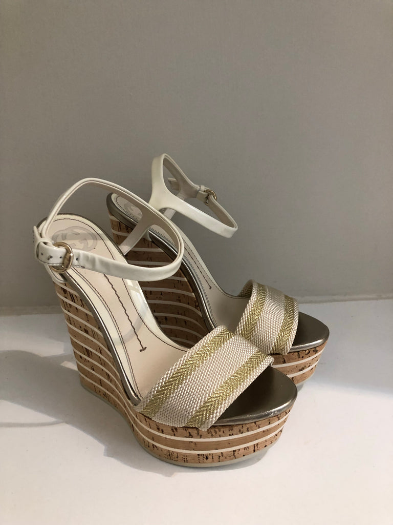 Vintage Web Wedges by Gucci