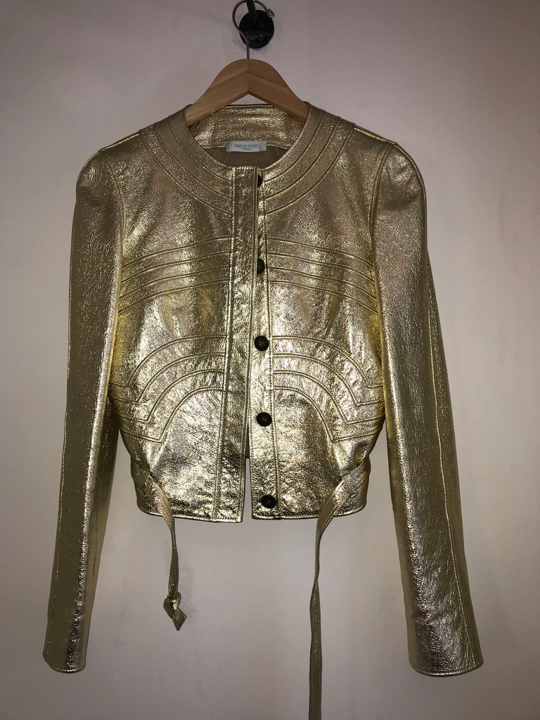 Gold Leather Jacket by Emilio Pucci