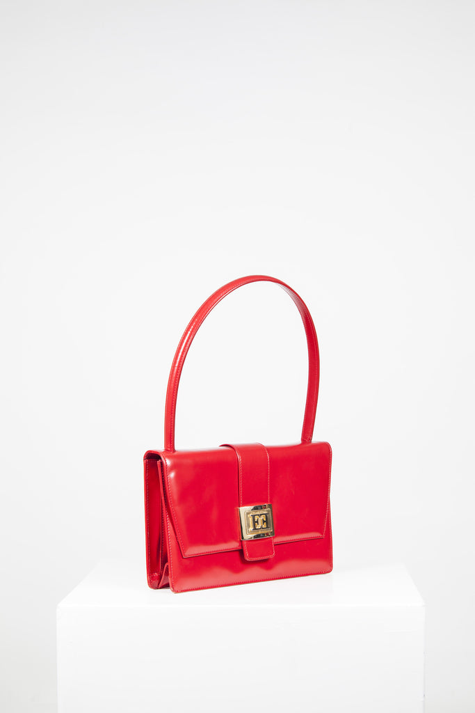 Smooth leather top-handle bag by Escada
