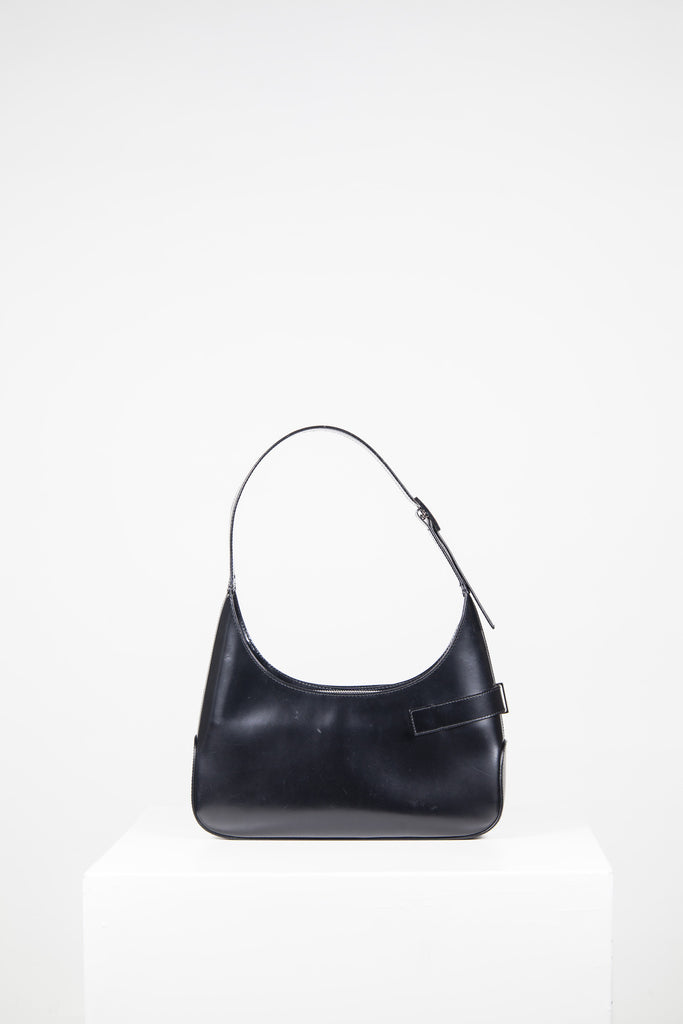 Leather top handle bag by Salvatore Ferragamo