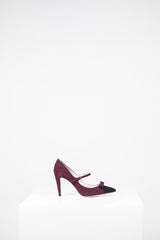 Suede heels with bow detail by Miu Miu at Isabella's Wardrobe