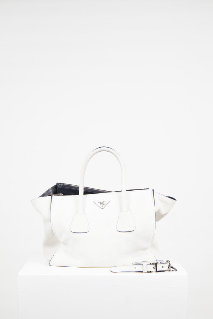 Twin Pocket suede tote by Prada