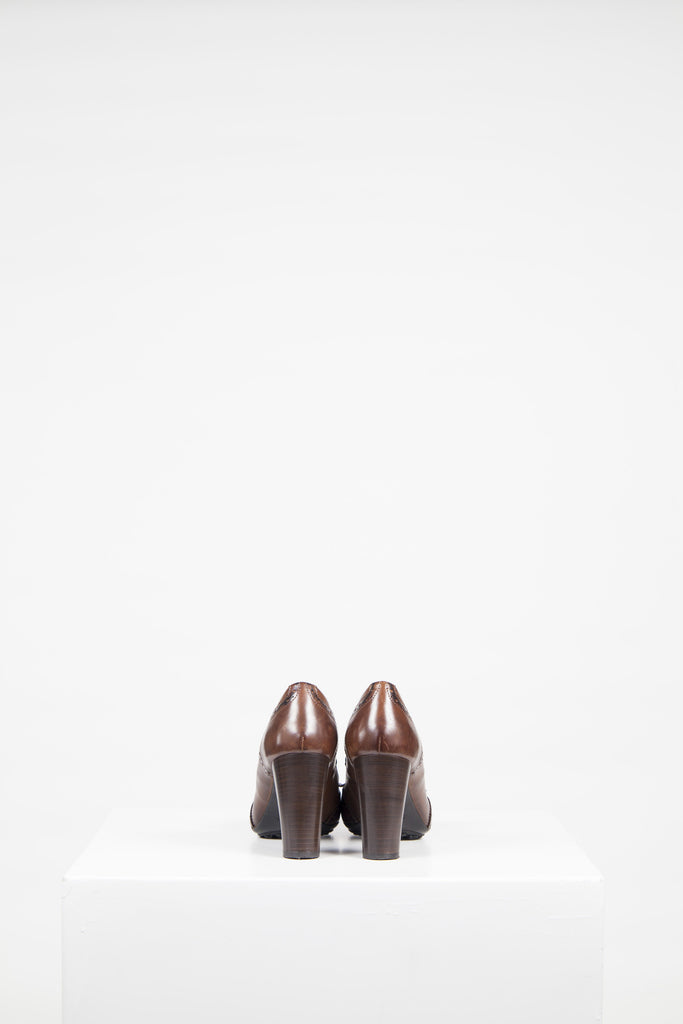 Chunky-heeled brogues by Tod's