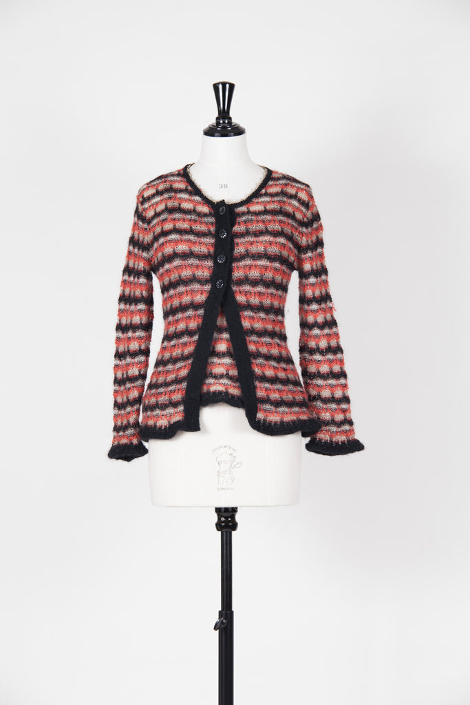 Knitted cardigan and camisole by Christian Lacroix