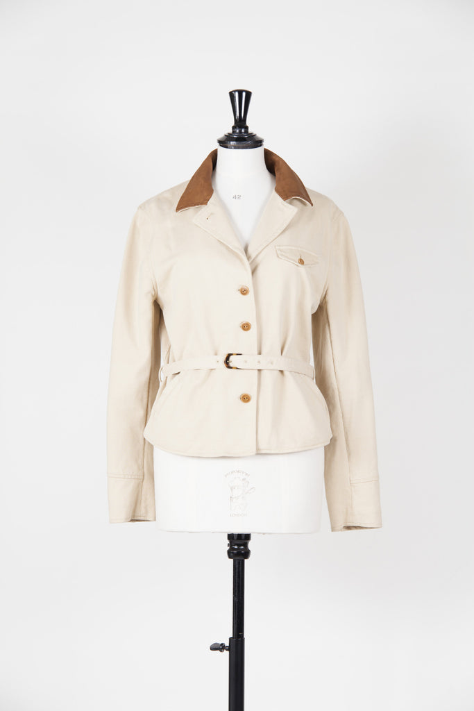 Leather collar jacket by Ralph Lauren