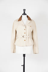 Leather collar jacket by Ralph Lauren at Isabella's Wardrobe