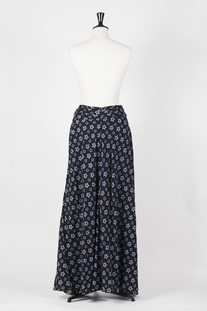 Maxi wrap-effect skirt by Emporio Armani