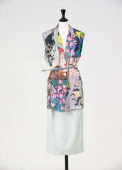 1950s style silk two piece by Rochas at Isabella's Wardrobe