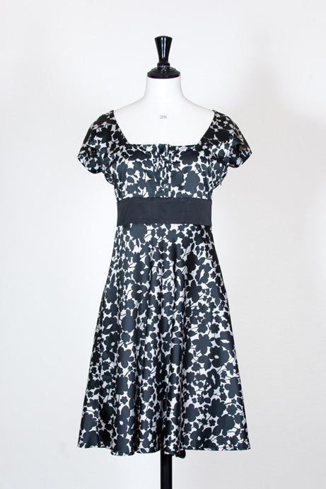 Print empire line dress by Emporio Armani