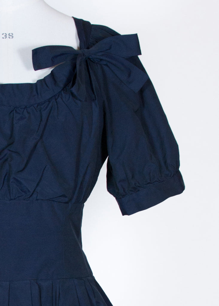 Taffeta navy dress by Moschino