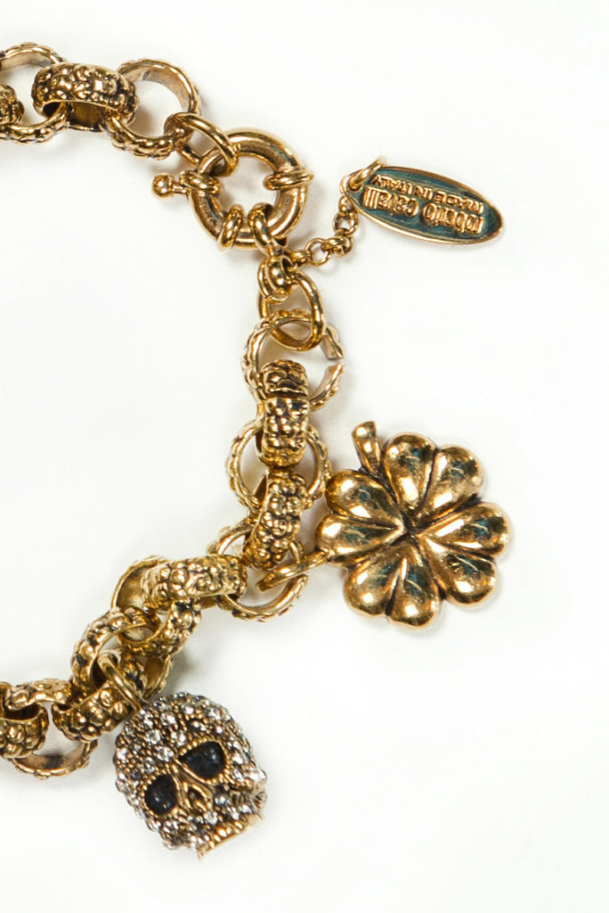 Skull charm necklace by Roberto Cavalli