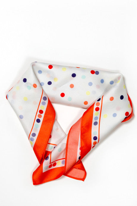 Multicoloured dot scarf by Christian Dior