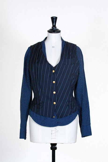 Pinstriped fitted waistcoat by Vivienne Westwood