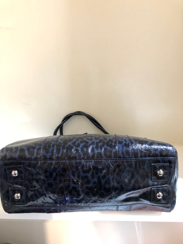 Leopard Print Patent Bayswater by Mulberry