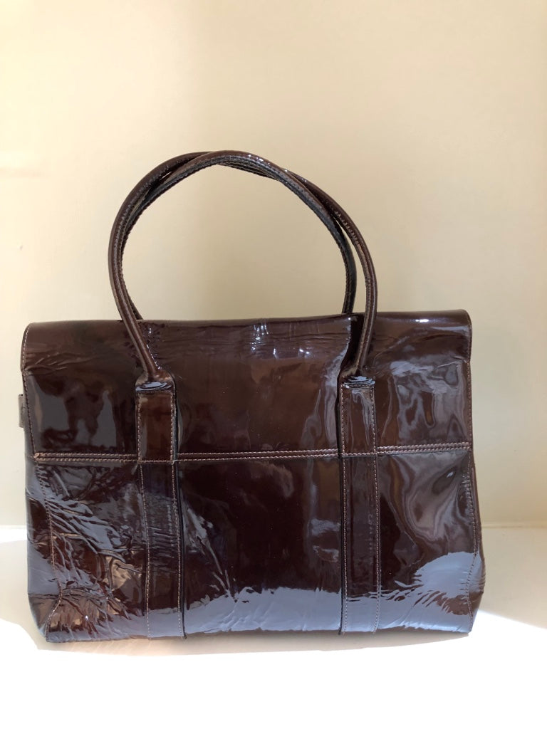 Oxblood Patent Bayswater by Mulberry