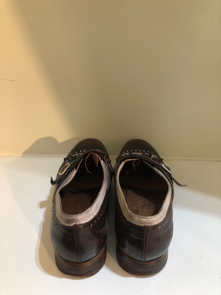 Shanghai Ebony & White Leather Brogues by Church's
