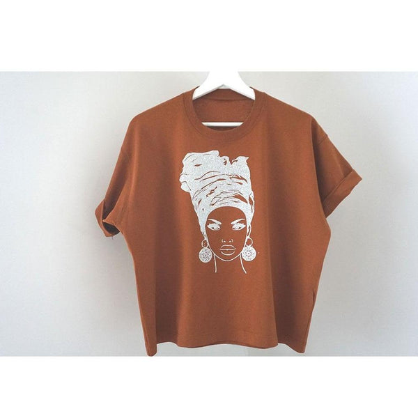 Orange Head Wrap Boxy T-shirt  - PRE ORDER