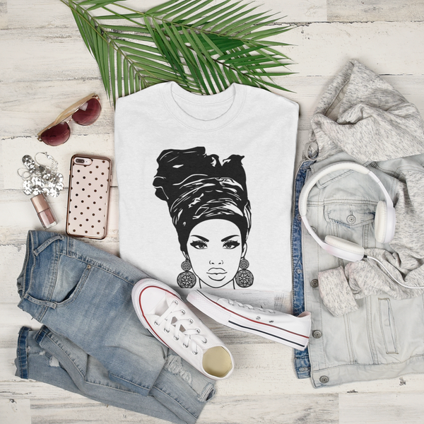 Beautifully Head Wrapped Boxy T-shirt