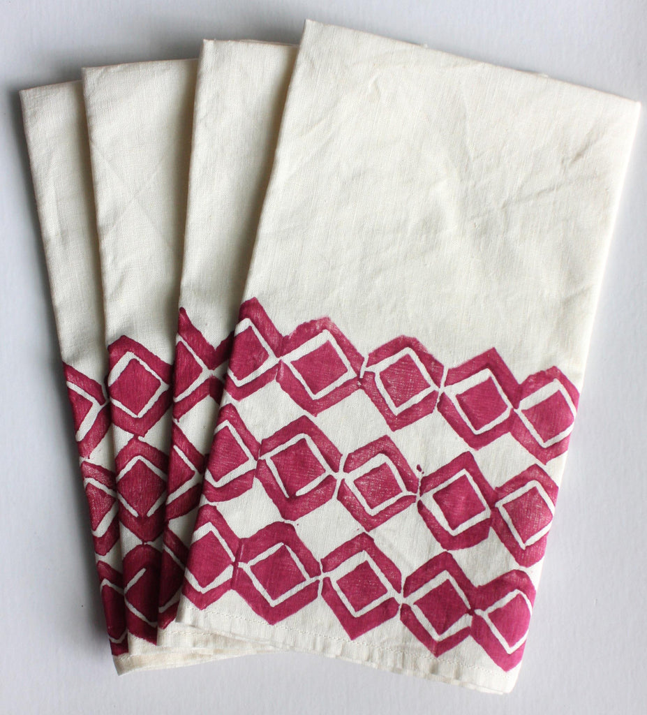 Diamond Napkins in Beet