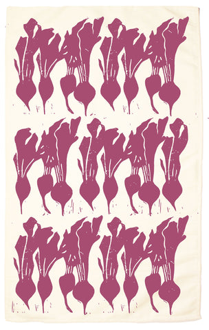 Beet Organic Kitchen Towel - Beet Red